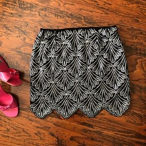 Fab'rik Sequined & Embroidered Mini Skirt